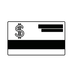 Bank credit card debit money plastic vector