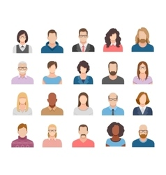 Business people flat avatars vector image vector image