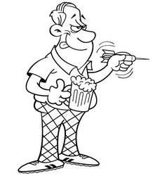 Cartoon man throwing a dart vector image