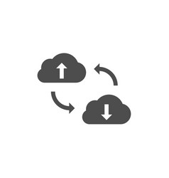 cloud data synchronization icon vector image