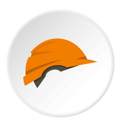Construction helmet icon circle vector