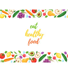 eat healthy food vector image