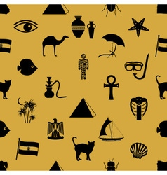 Egypt country theme symbols icons seamless pattern vector