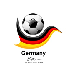 Football team germany vector image