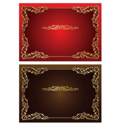 Frame and borders on seamless retro background vector image vector image