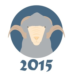 goat symbol of the coming year vector image vector image
