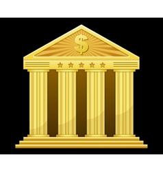 Gold bank vector