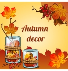 Golden autumn collected in a beautiful decor vector