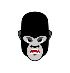 gorilla angry emoji monkey evil emotion isolated vector image vector image