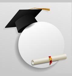graduation cap vector image vector image