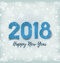 happy new year 2018 blue winter background vector image