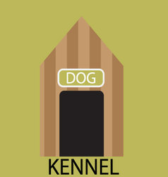 Kennel dog icon flat vector