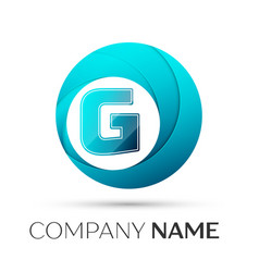 letter g logo symbol in the colorful circle on vector image