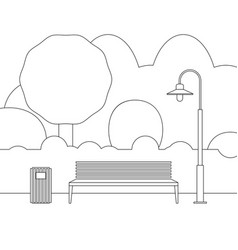 line outdoor furniture vector image vector image