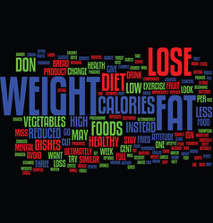 Lose weight in a way that s right for you text vector
