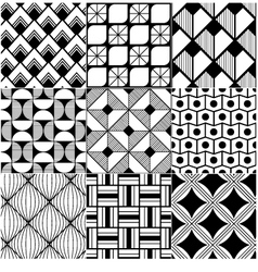 Monochrome abstract seamless background vector