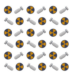 nuclear bomb weapon vector image