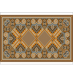 Oriental rug in warm orange brown nuances vector
