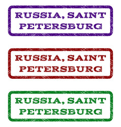 Russia saint petersburg watermark stamp vector