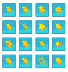 Star icon blue app vector