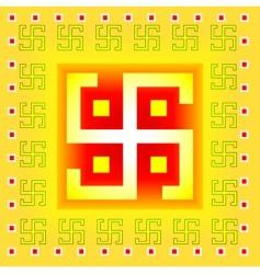 swastika symbol vector image vector image