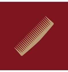 The comb icon barbershop symbol flat vector