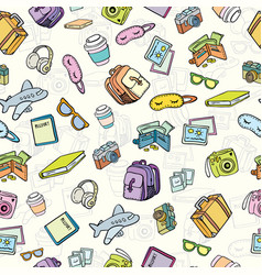 Travel and tourism background pattern vector
