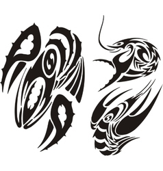 Zodiac Signs - cancer Vinyl-ready set vector image
