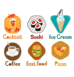 Different types of food vector