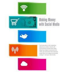 Social media money vector