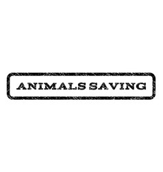 Animals saving watermark stamp vector