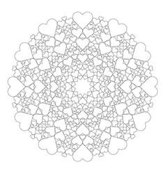 black and white round lovely mandala vector image