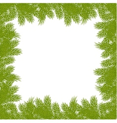christmas pine frame 2209 02 vector image