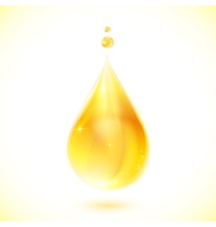 Realistic yellow oil drop vector
