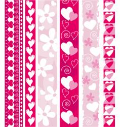 valentine design border vector image