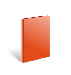 3d blank red book mockup paper book isolated on vector image vector image