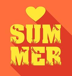 Summer poster of type composition flat design vector