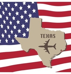 Texas air travel concept vector
