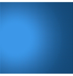 Blue radial light effect gradient in halftone styl vector