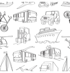 Doodle patern transport vector