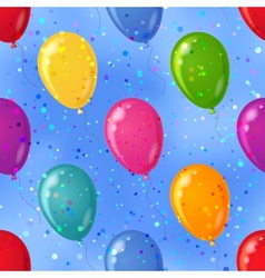 Balloon seamless background in sky vector
