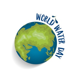 World water day concept with globe vector