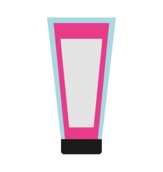 Bottle facial cream makeup product isolated icon vector