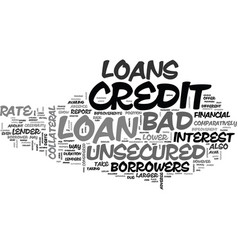 Avail cheaper finance through bad credit vector