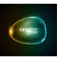 Bubble speech made of shiny glass vector image