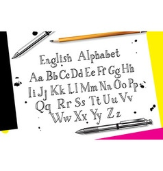 Calligraphic script font vector image