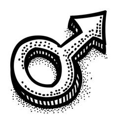 Cartoon image of male symbol vector