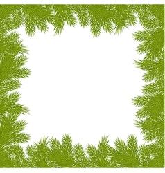christmas pine frame 2209 02 vector image vector image