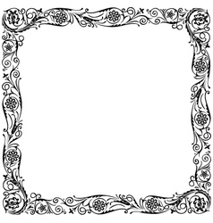 Design frame black vector image