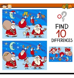Differences task with santa vector